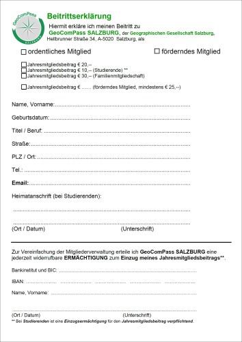 Beitrittserklärung GCPS